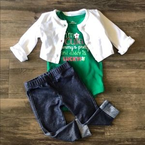 Infant St. Patrick's Day 3pc. Outfit size 12 mo